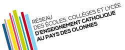 Logo réseau des écoles, collèges et lycées d'enseignement catholique au pays des olonnes