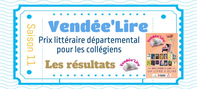 Les résultats du Vendée'lire